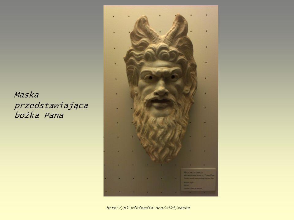 Maska przedstawiająca bożka Pana