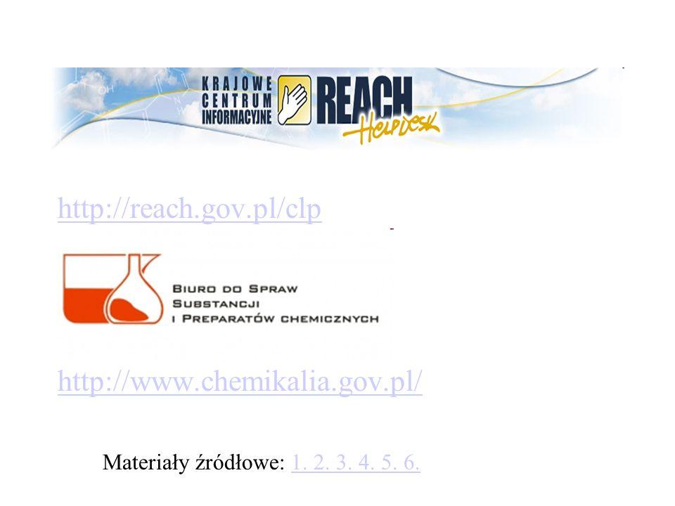 http://reach.gov.pl/clp http://www.chemikalia.gov.pl/