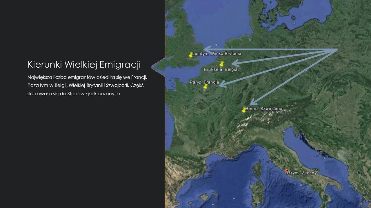Kierunki Wielkiej Emigracji