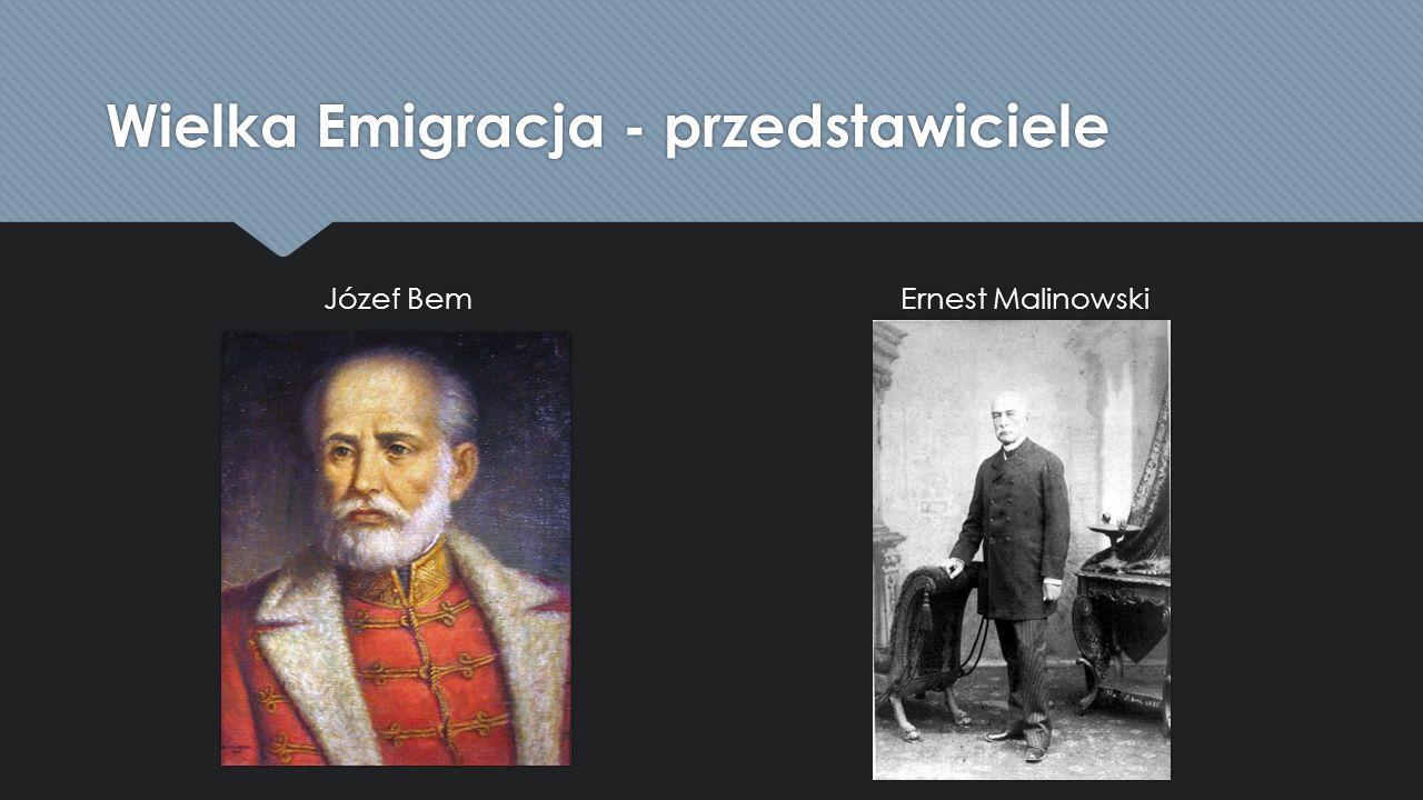 Wielka Emigracja - przedstawiciele