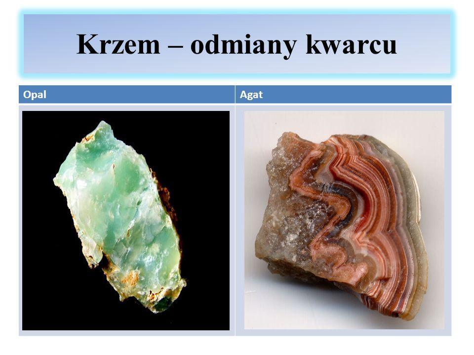 Krzem – odmiany kwarcu Opal Agat