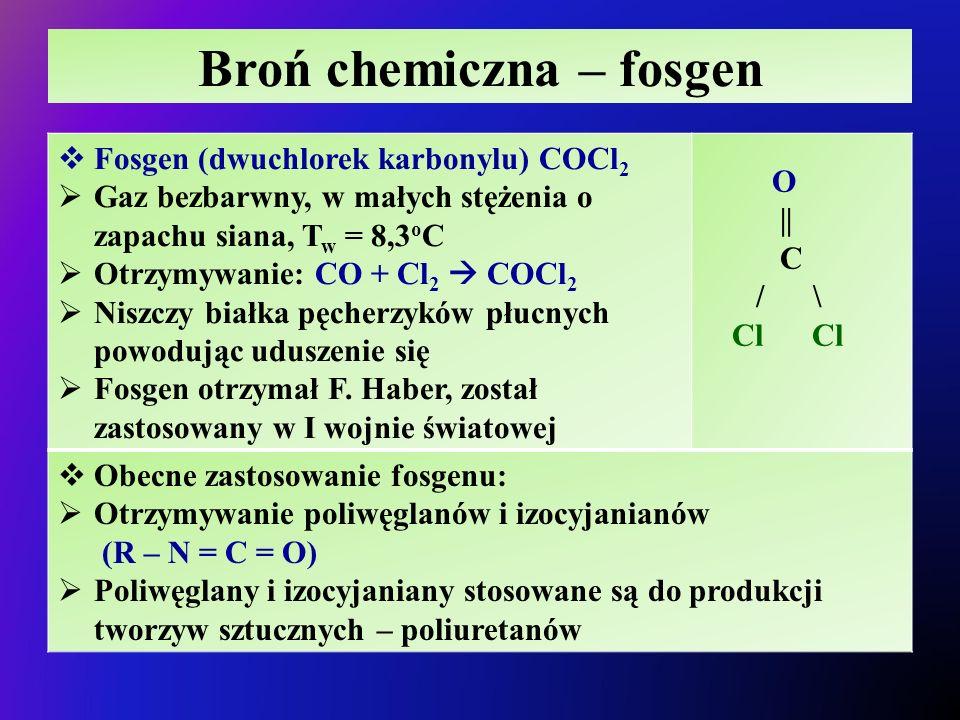 Broń chemiczna – fosgen