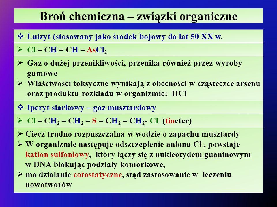 Broń chemiczna – związki organiczne
