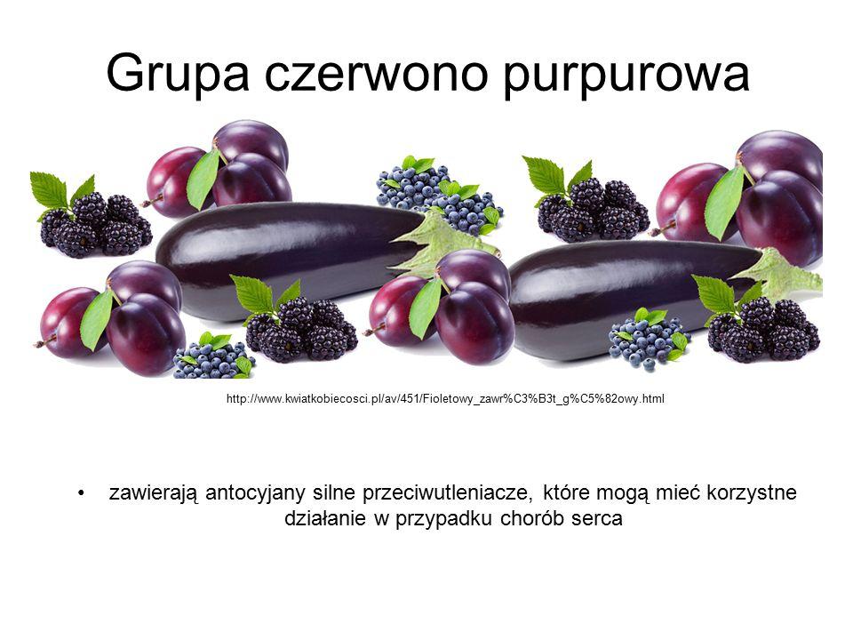 Grupa czerwono purpurowa