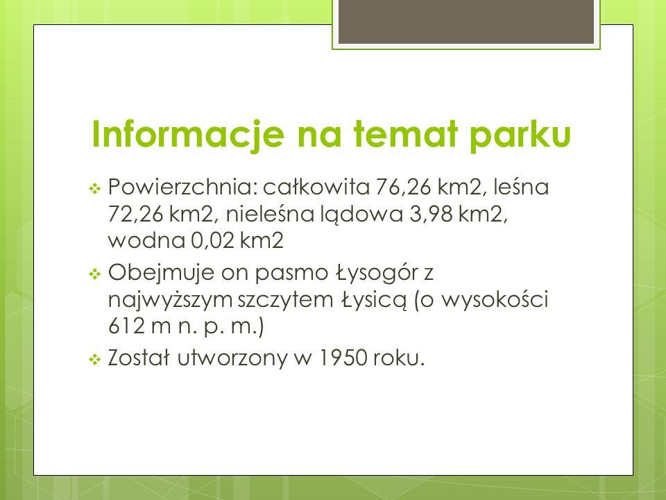 Informacje na temat parku