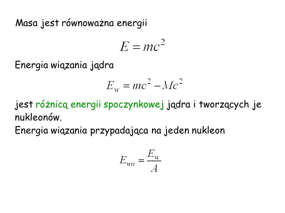Masa jest równoważna energii
