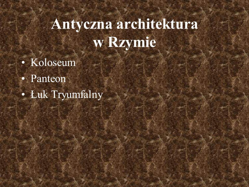 Antyczna architektura w Rzymie
