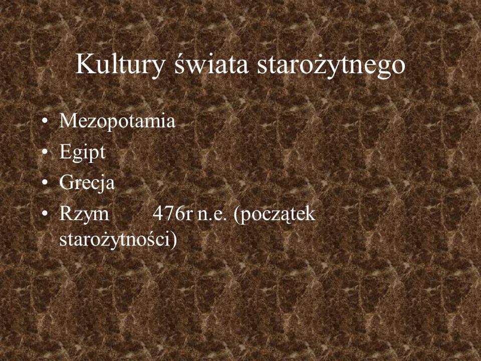 Kultury świata starożytnego