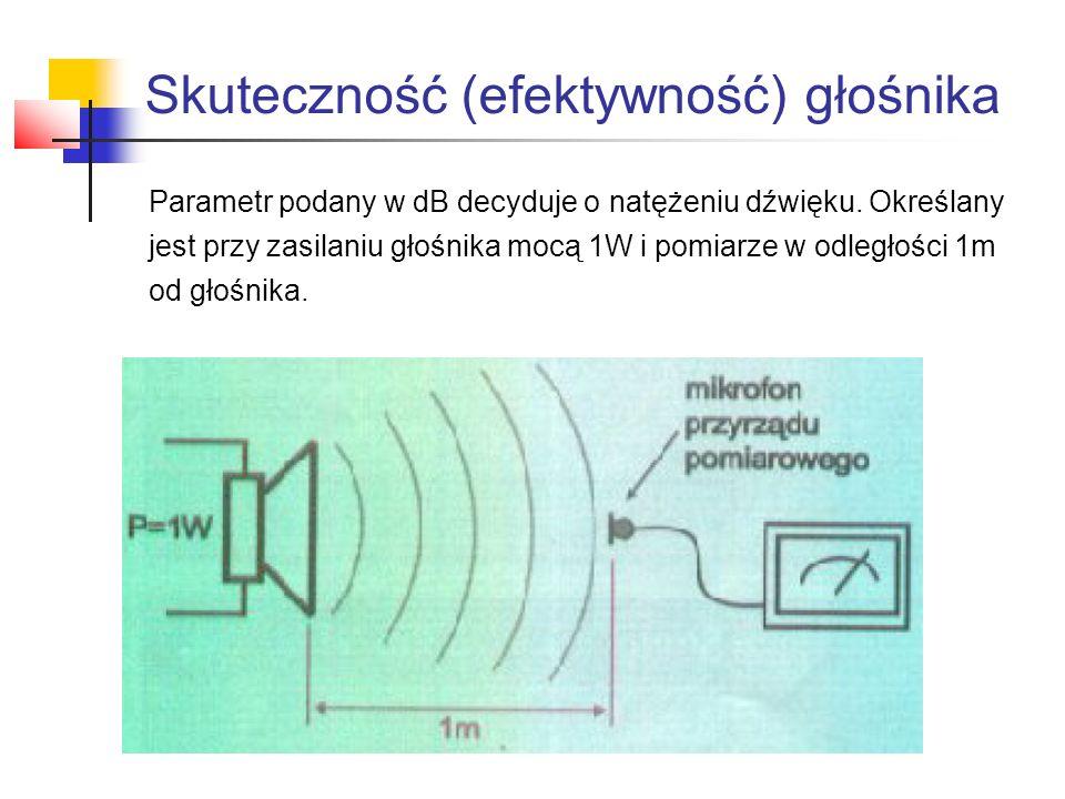 Skuteczność (efektywność) głośnika