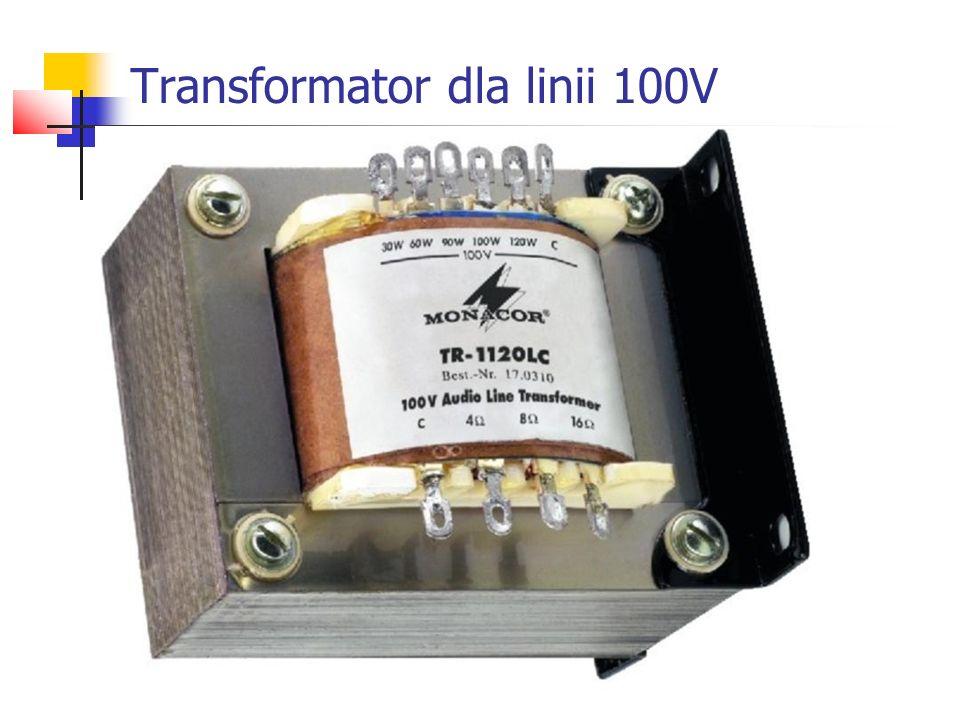 Transformator dla linii 100V