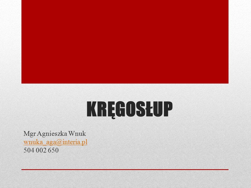 Mgr Agnieszka Wnuk wnuka_aga@interia.pl 504 002 650