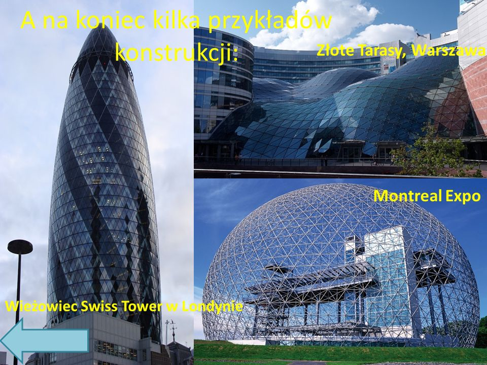 A na koniec kilka przykładów konstrukcji: