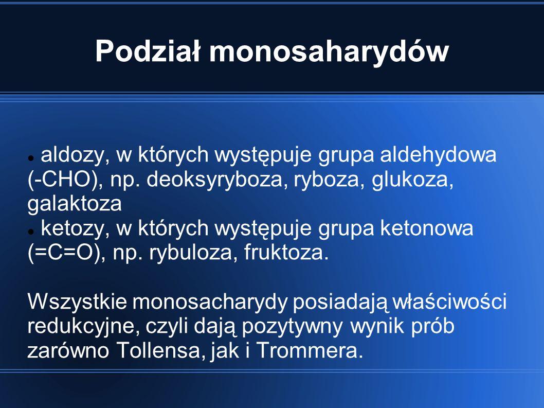Podział monosaharydów