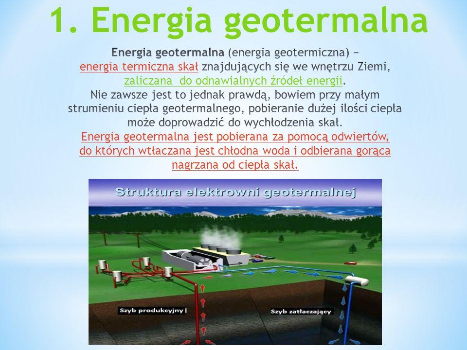 1. Energia geotermalna