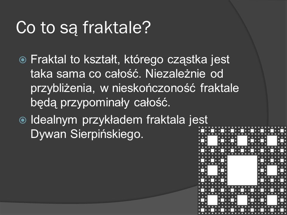 Co to są fraktale