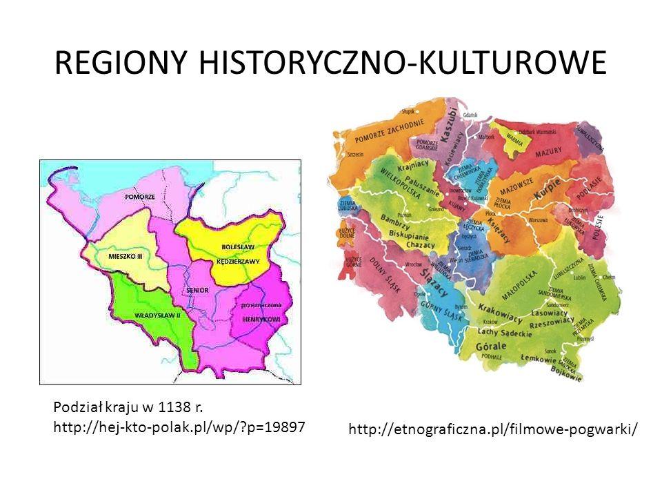 REGIONY HISTORYCZNO-KULTUROWE
