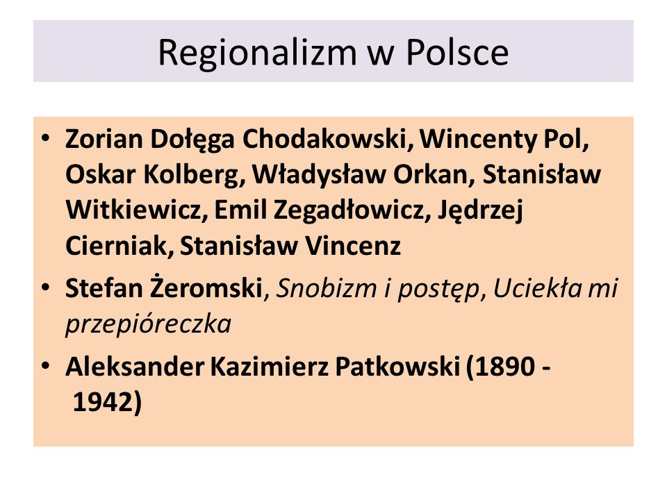 Regionalizm w Polsce