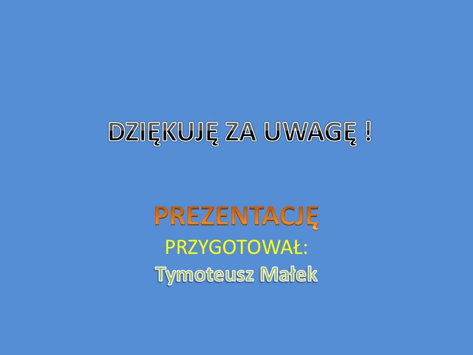 PREZENTACJĘ PRZYGOTOWAŁ: Tymoteusz Małek