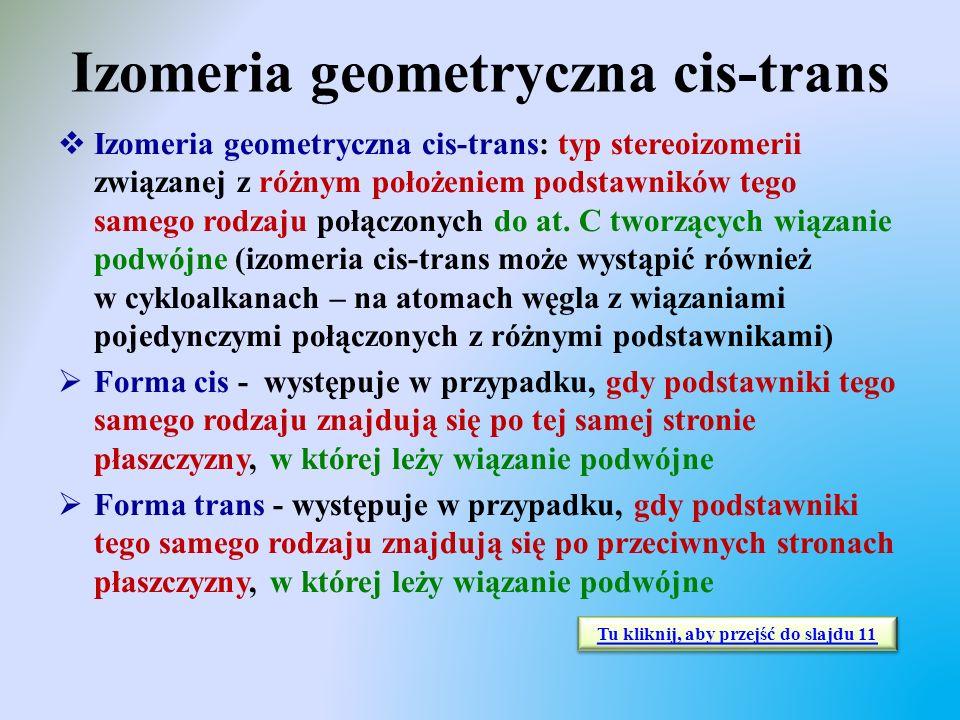 Izomeria geometryczna cis-trans