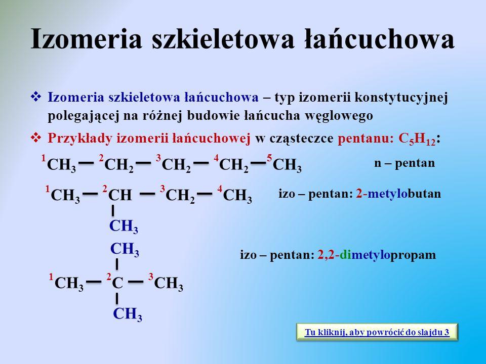 Izomeria szkieletowa łańcuchowa