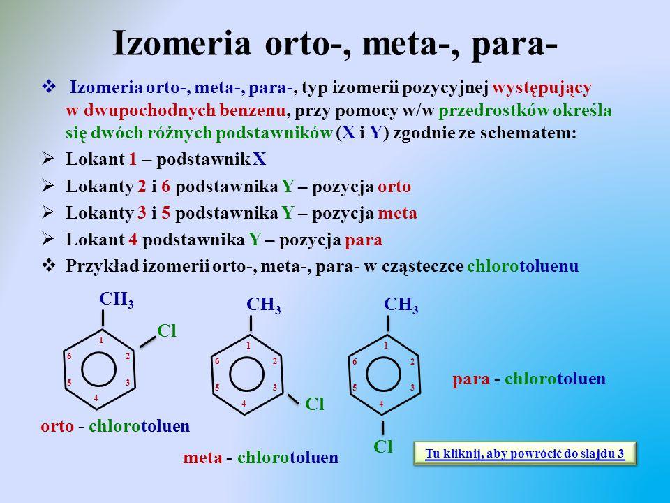 Izomeria orto-, meta-, para-