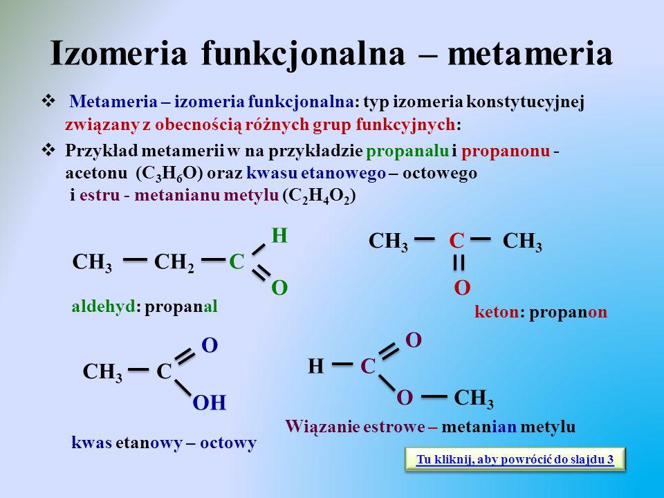 Izomeria funkcjonalna – metameria