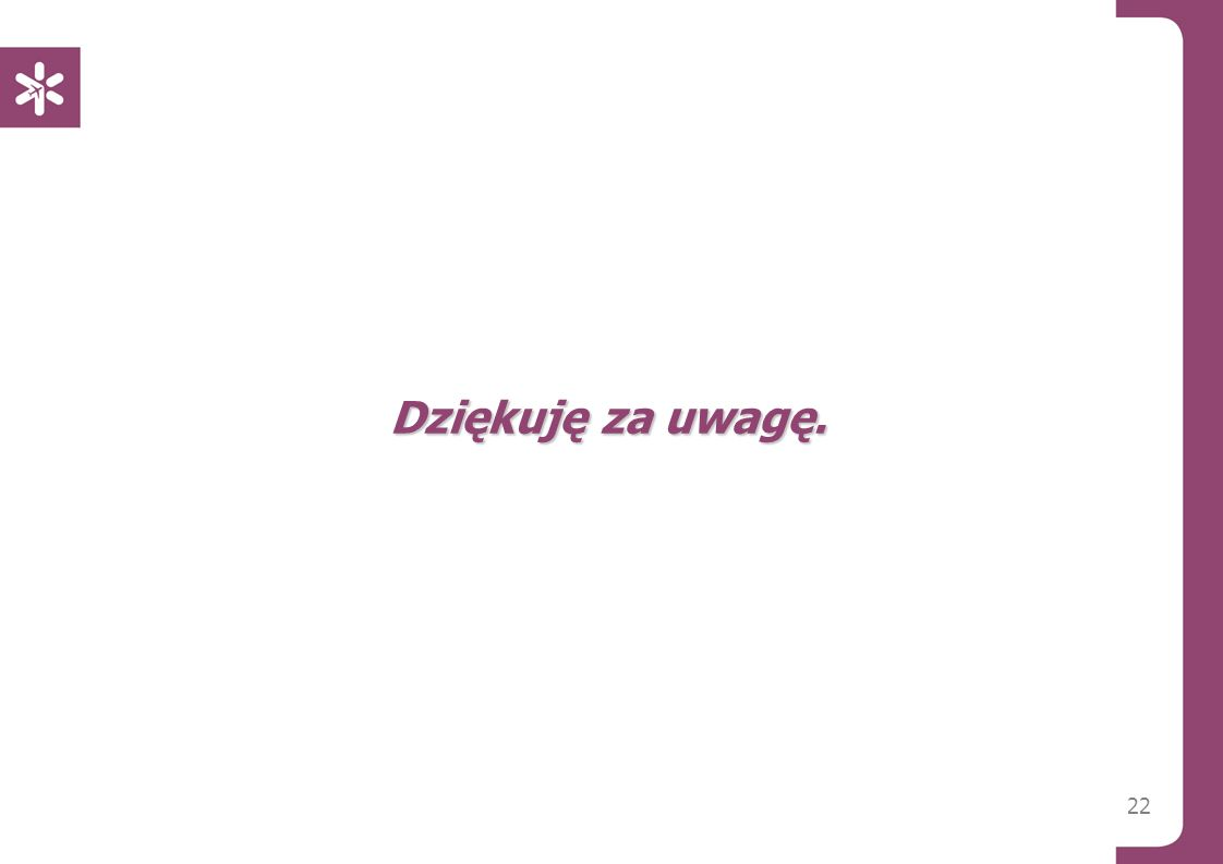 Dziękuję za uwagę. Warszawa, 14/01/2013