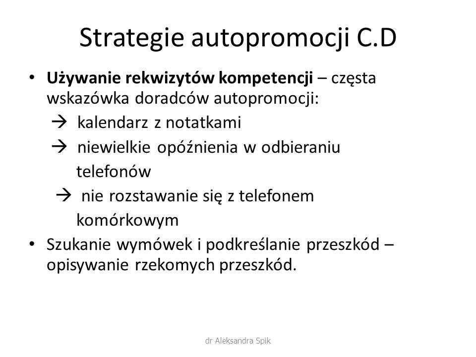 Strategie autopromocji C.D