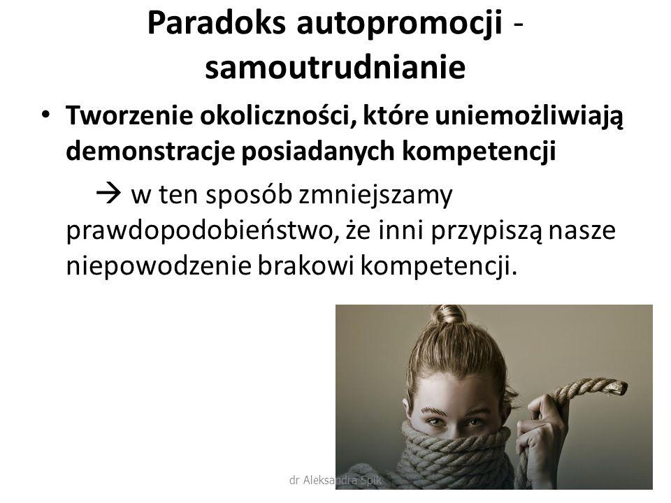 Paradoks autopromocji - samoutrudnianie