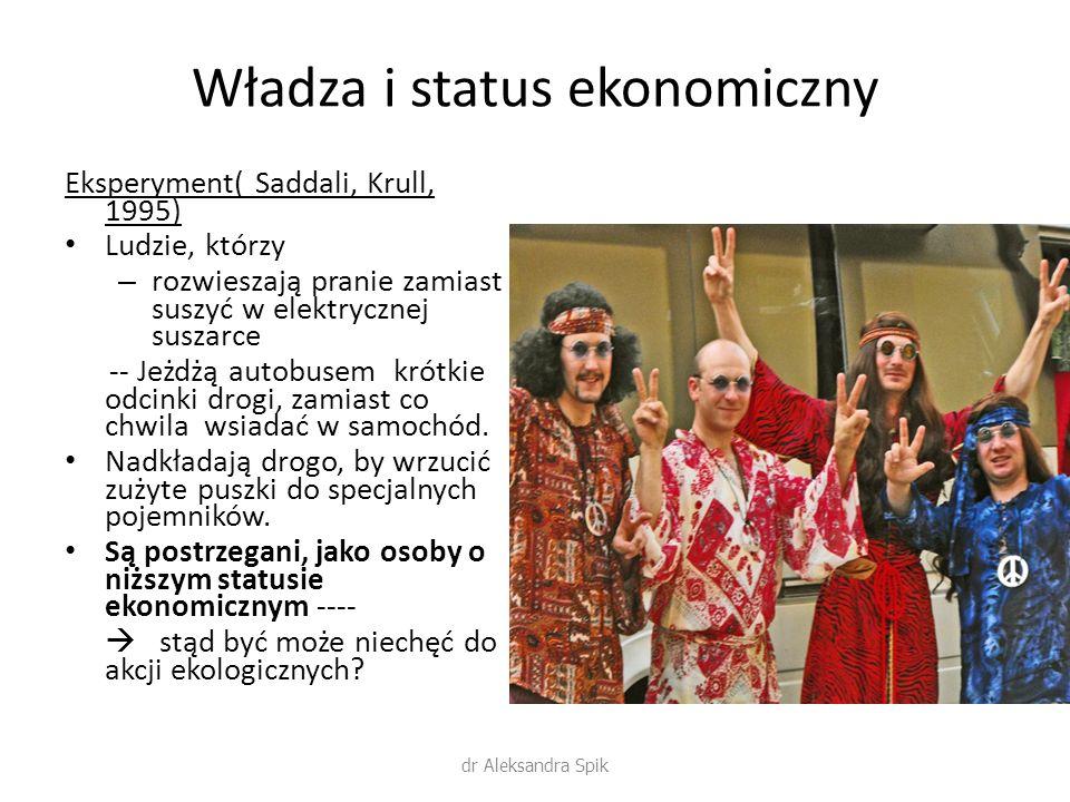 Władza i status ekonomiczny