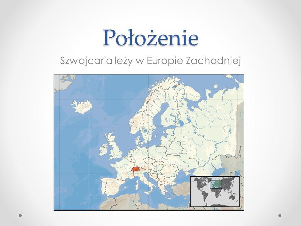 Szwajcaria leży w Europie Zachodniej
