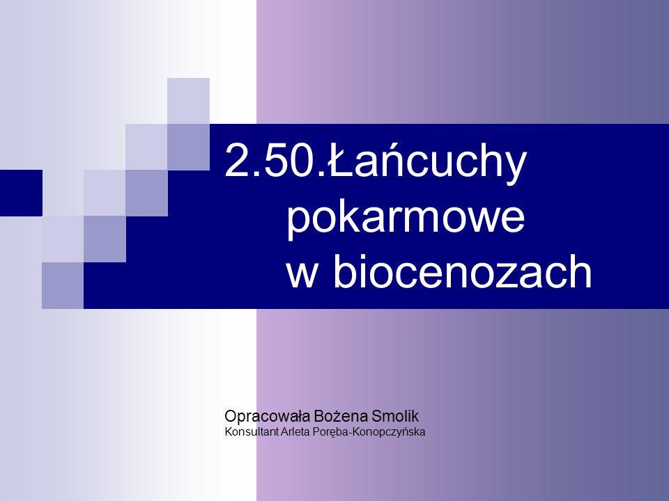 2.50.Łańcuchy pokarmowe w biocenozach