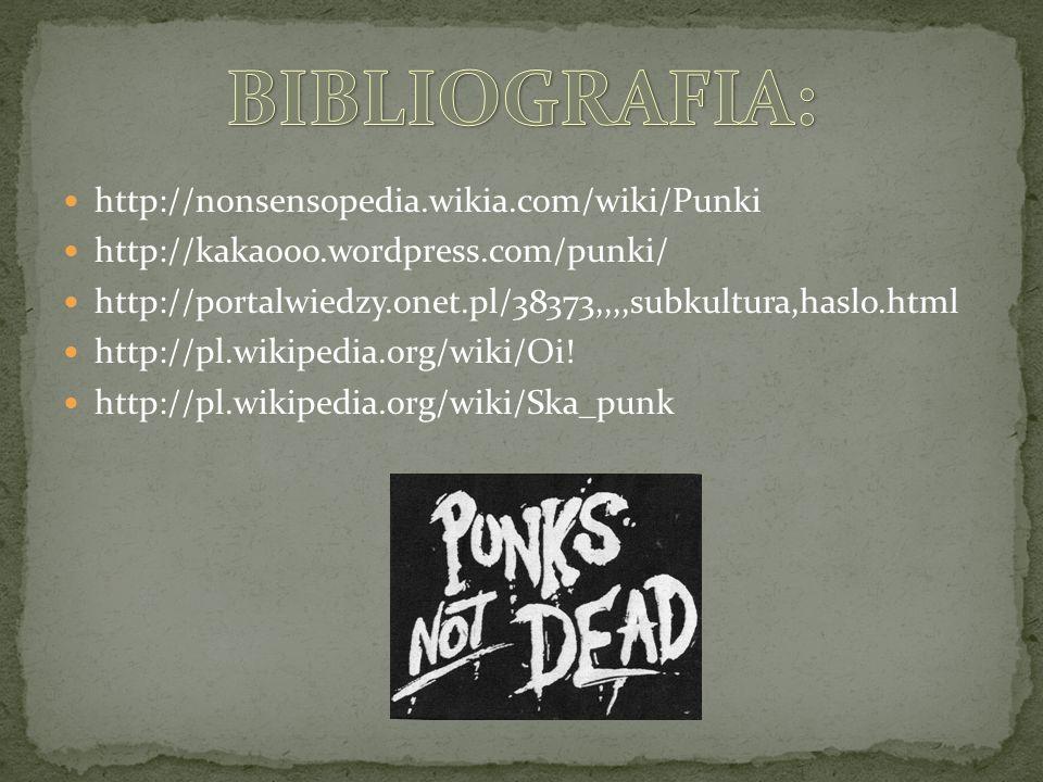BIBLIOGRAFIA: http://nonsensopedia.wikia.com/wiki/Punki