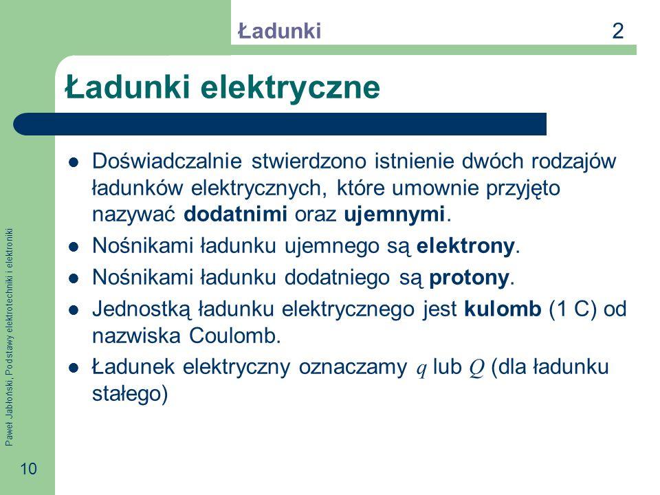 Ładunki elektryczne 2 Ładunki