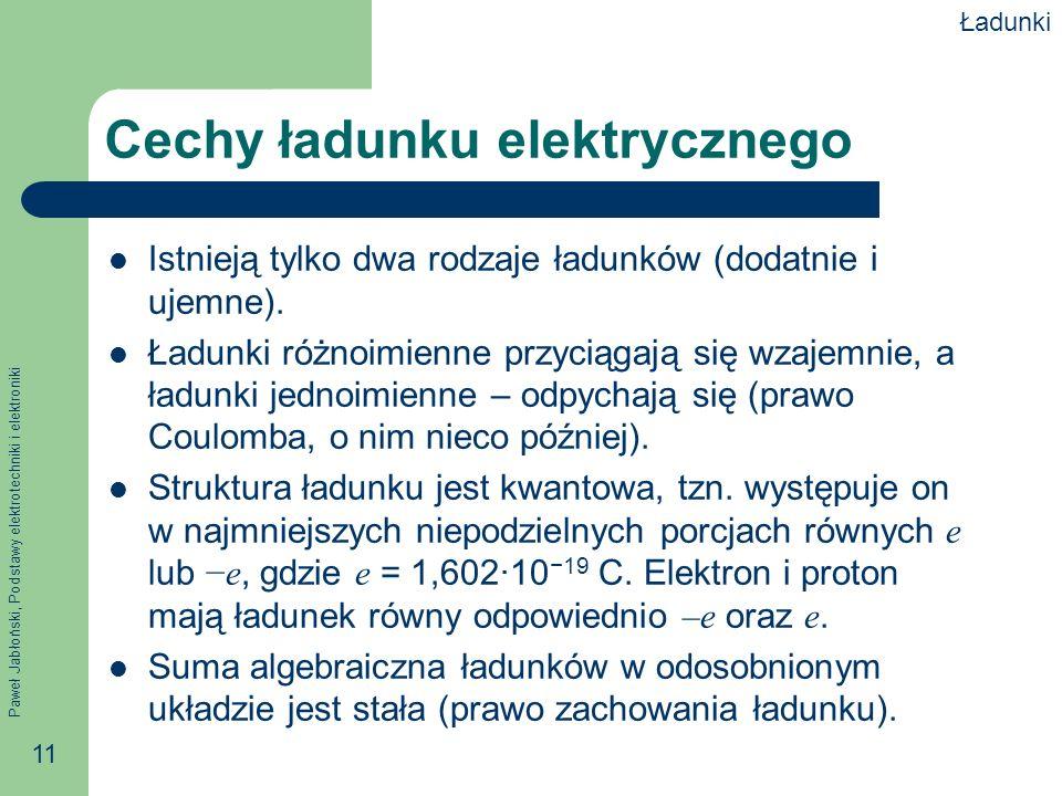 Cechy ładunku elektrycznego