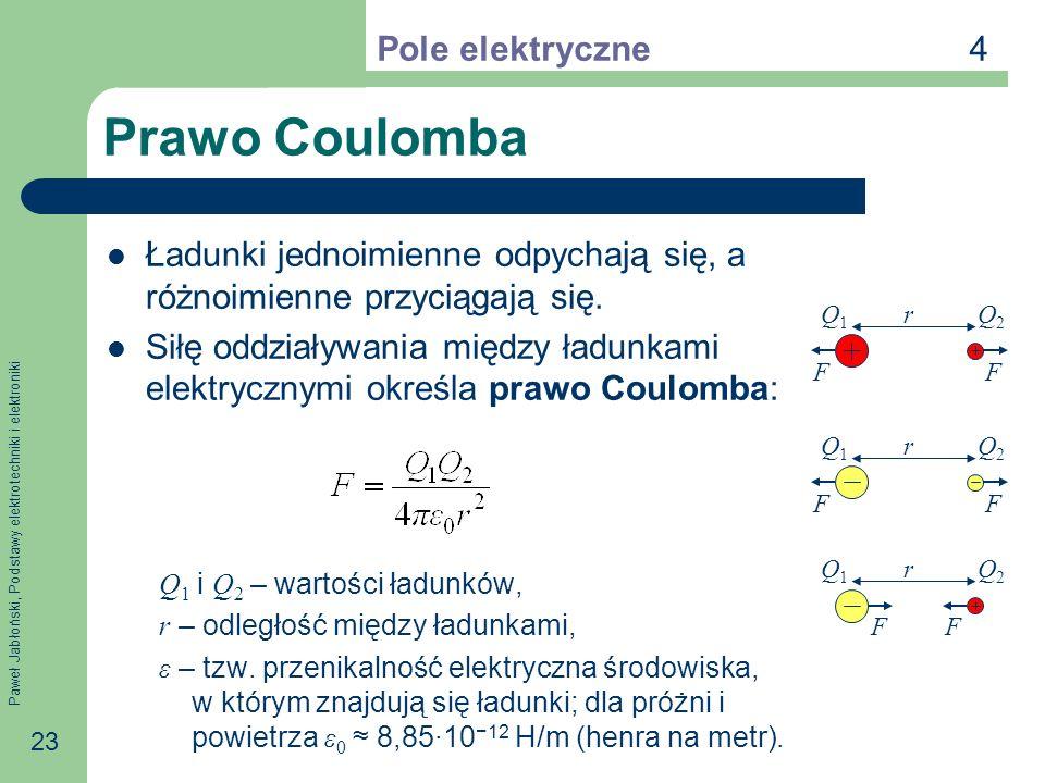 Prawo Coulomba 4 Pole elektryczne
