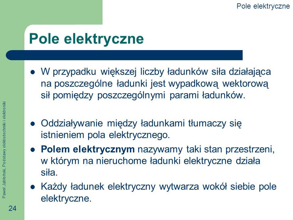 Pole elektryczne Pole elektryczne.