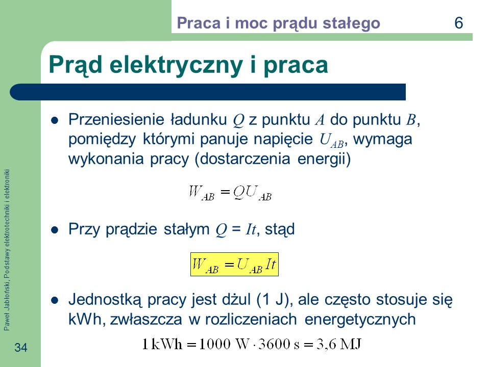 Prąd elektryczny i praca