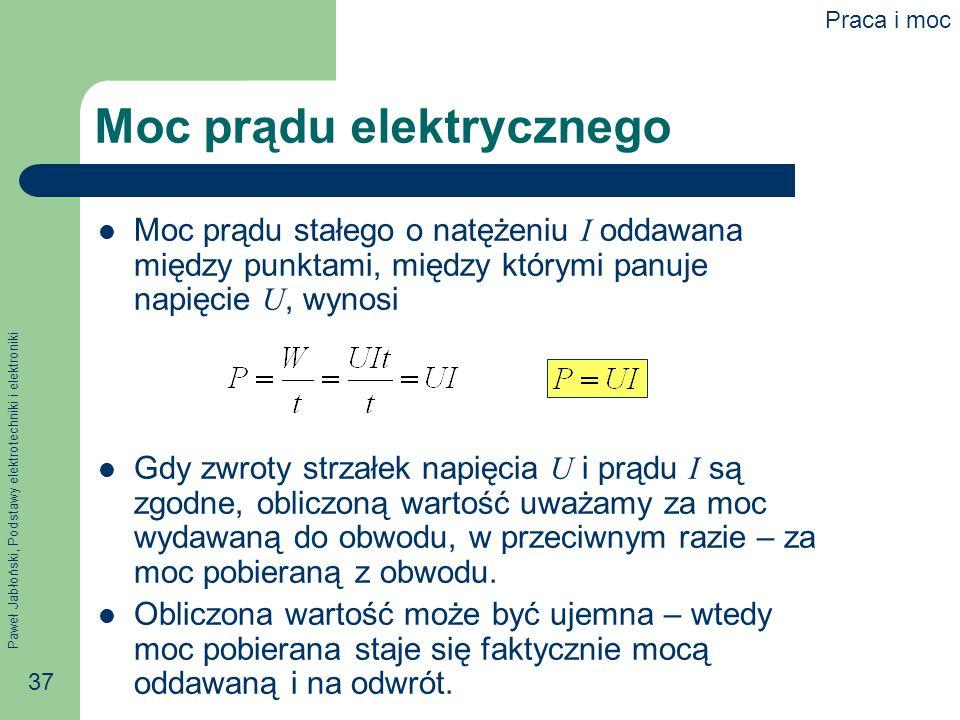 Moc prądu elektrycznego