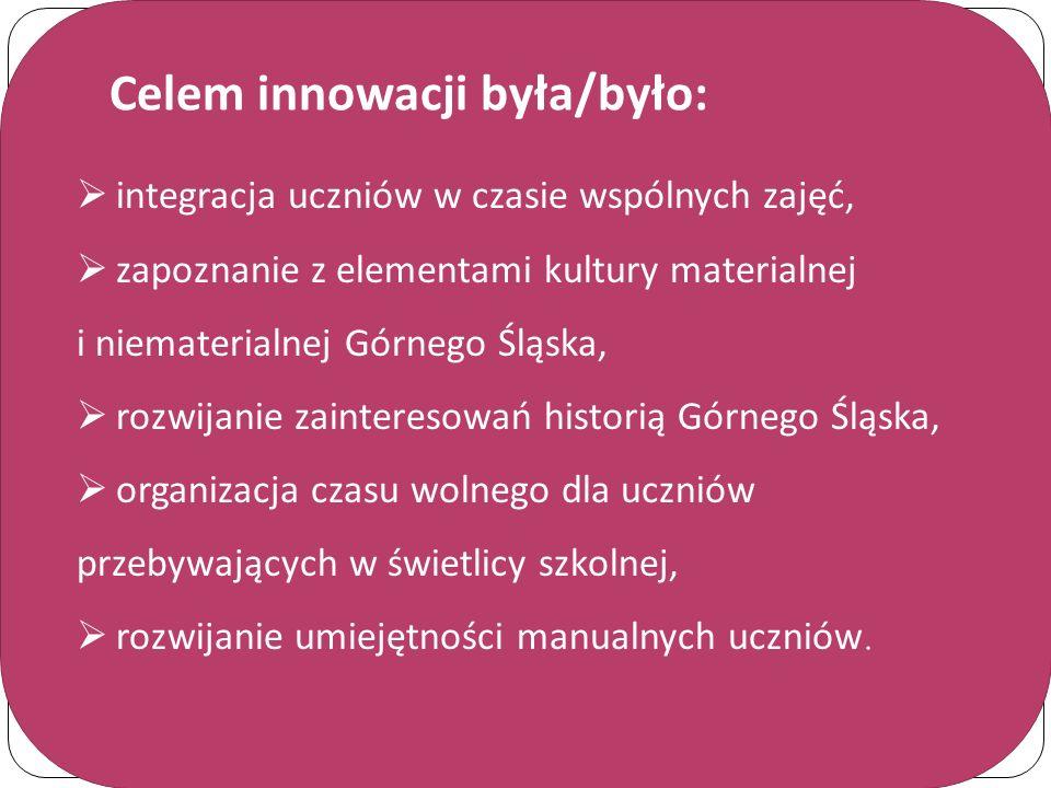 Celem innowacji była/było: