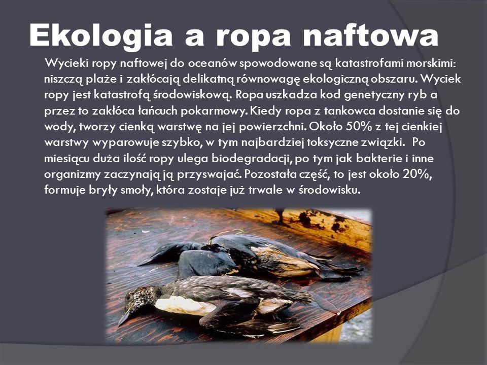 Ekologia a ropa naftowa