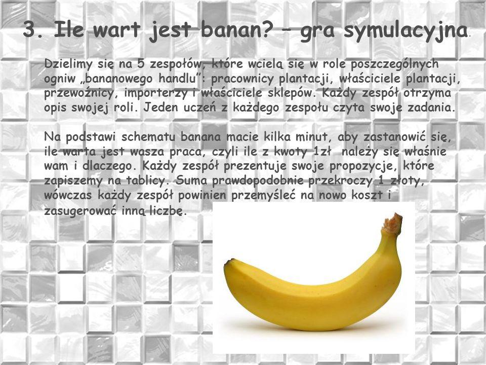 3. Ile wart jest banan – gra symulacyjna.