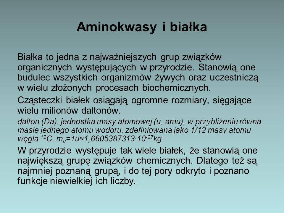Aminokwasy i białka