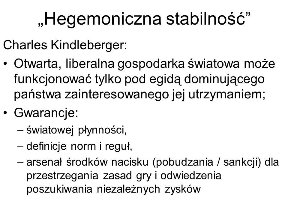 """""""Hegemoniczna stabilność"""