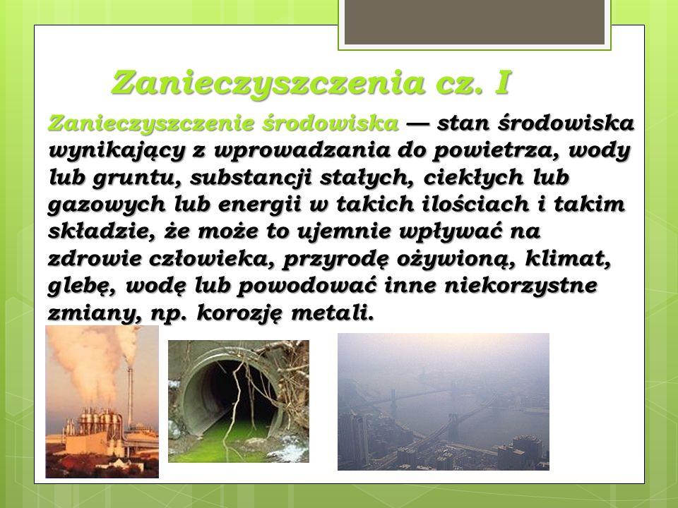 Zanieczyszczenia cz. I