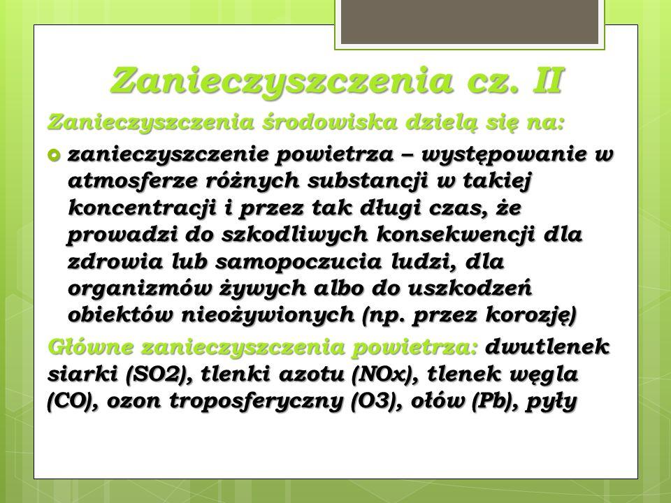 Zanieczyszczenia cz. II