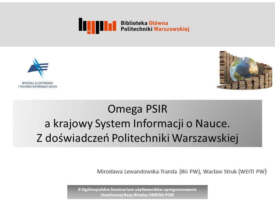 a krajowy System Informacji o Nauce.