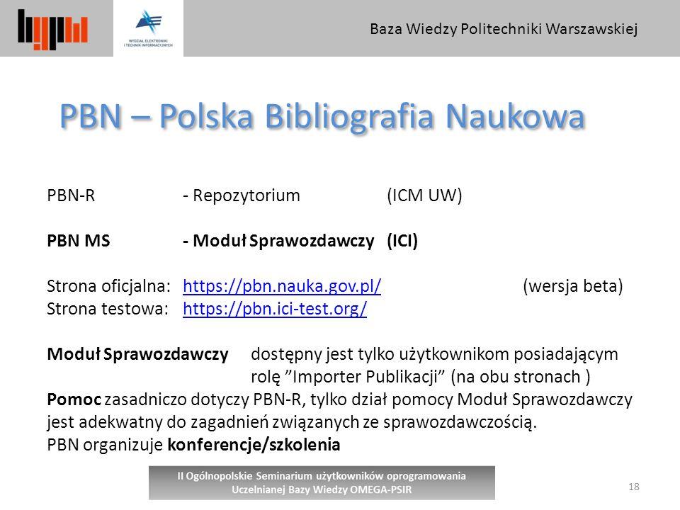 PBN – Polska Bibliografia Naukowa