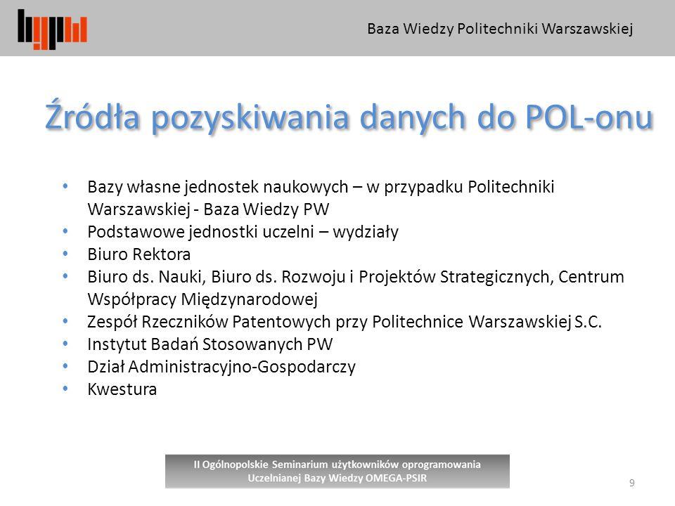 Źródła pozyskiwania danych do POL-onu