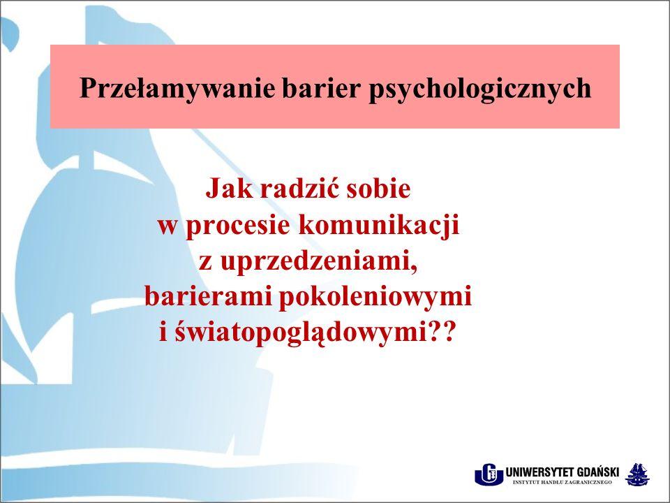 Przełamywanie barier psychologicznych